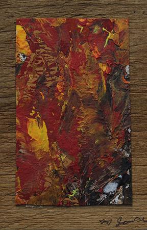 Mary Jowsey - Abstract on cedar