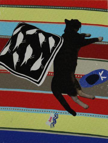 Johanne Berthiaume Sawyer - Chat dormant dans la lumière éternelle
