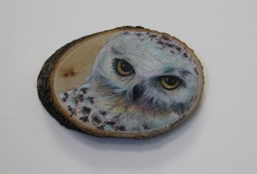 Joanne Abbott - Snowly Owl : A totem of Wisdom and Strength